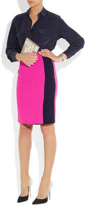 Roksanda Ilincic Bramall two-tone wool-crepe skirt