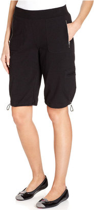 Style&Co. Sport Shorts, Straight-Fit Pull-On Bermuda