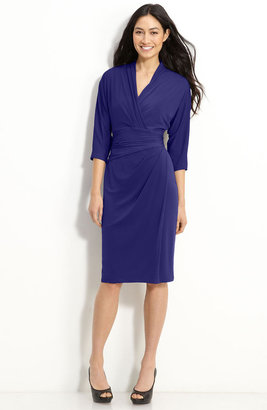 Suzi Chin for Maggy Boutique Faux Wrap Jersey Dress