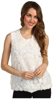 Vince Camuto S/L Rose Lace Blouse (New Ivory) - Apparel