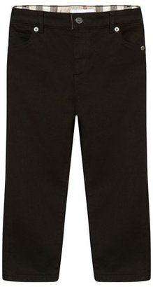 Burberry Black Skinny Jeans with Check Turn-Up