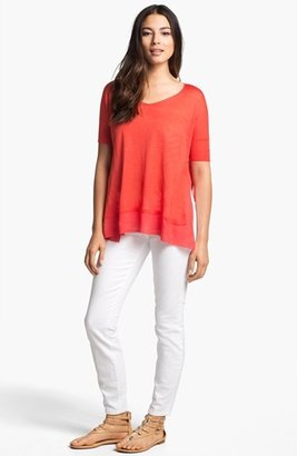 Eileen Fisher V-Neck Boxy Top