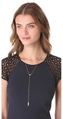 Jennifer Zeuner Jewelry Rayna Eye Lariat Necklace