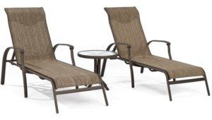 Furniture Oasis Outdoor Aluminum 3-Pc. Chaise Set (2 Chaise Lounges and 1 End Table), Created for Macy's