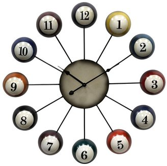 25-In. Pool Cue Ball Wall Clock