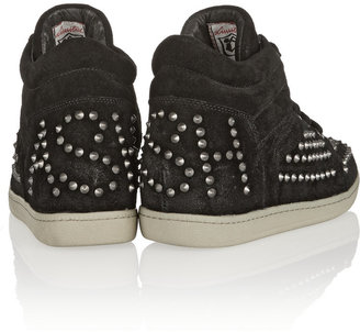Ash Zest studded suede wedge sneakers
