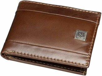 Nautica Men's Leather Passcase Bifold Wallet with Removable Card Case