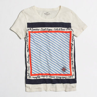 J.Crew Factory Factory travel scarf collector tee