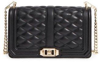 Rebecca Minkoff Love Leather Crossbody Bag - Black $295 thestylecure.com