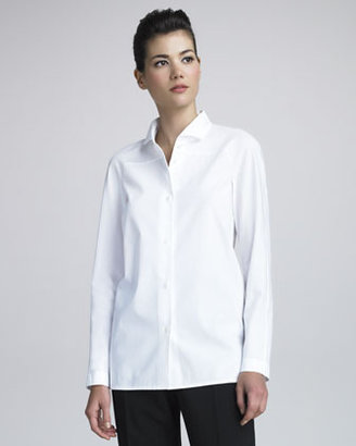 Shamask Wing-Collar Poplin Shirt