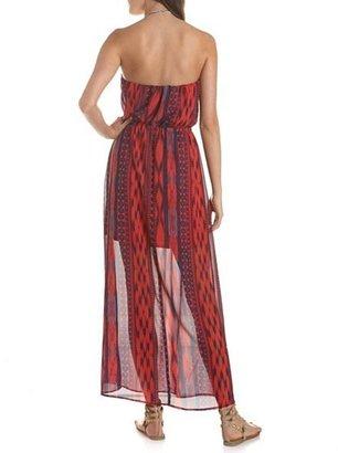Charlotte Russe Aztec Chiffon Maxi Dress