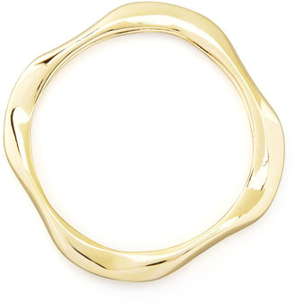 Kenneth Jay Lane Square Gold-Plated Bangle