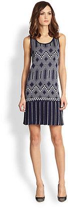 Design History Art Deco Intarsia Sweater Dress