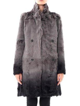 Each X Other Ombré dyed fur coat
