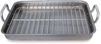 Debuyer de Buyer Mineral B 16.73-Inch by 13.4-Inch Rectangular Roaster with Stainless Steel Grid