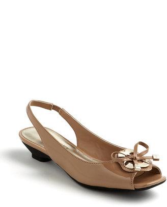 Anne Klein Juan Peep-Toe Wedge Sandals