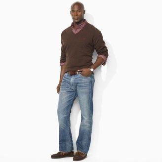 Polo Ralph Lauren Big & Tall Merino Wool V-Neck Sweater