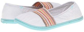 Roxy Pier Stretch (White/Multi Stripe) - Footwear