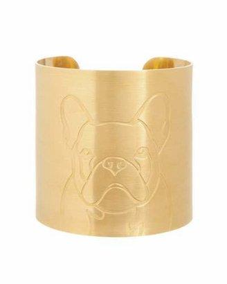 K Kane 18k Gold-Plated French Bulldog Dog Cuff $272 thestylecure.com