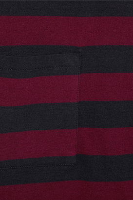Chinti and Parker Contrast-stripe cotton dress