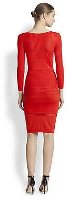 Roberto Cavalli Knit Cutout-Detail Dress