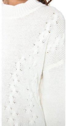 LnA Braided Turtleneck Sweater