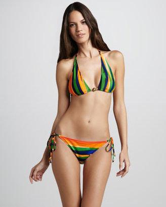 Milly Tortuga Striped Bikini Top