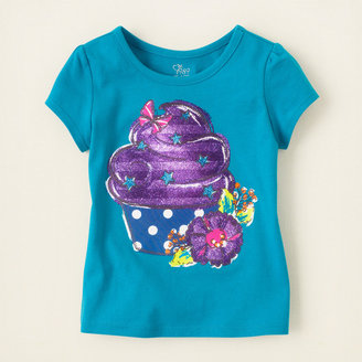 Children's Place Glitter graphic active tee