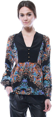 Cynthia Vincent Bell Sleeve Blouse