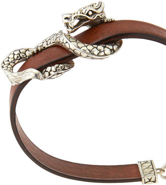 John Hardy Naga Leather Bracelet, Brown