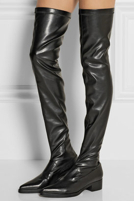 Stella McCartney Faux stretch-leather over-the-knee boots