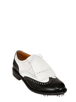 Fratelli Borgioli Water-Resistant Golf Lace-Up Shoes