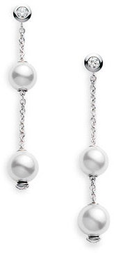 Women's Mikimoto 'Pearls In Motion' Akoya Cultured Pearl Earrings $1,800 thestylecure.com