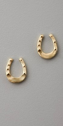 Giles & Brother Tiny Horseshoe Studs