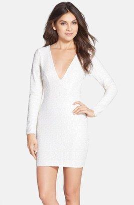 Women's Dress The Population 'Bridget' Sequin V-Neck Body-Con Dress $198 thestylecure.com