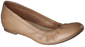 Merona Women's Emma Genuine Leather Scrunch Flats