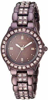 Swarovski Armitron Women's 75/3689BMIB Crystal Accented Brown Ion-Plated Bracelet Watch