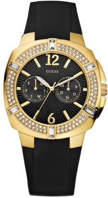 GUESS Black Rubber Strap Watch