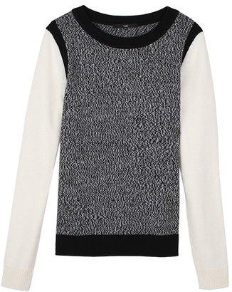 Tibi Melange Solid Block Sweater