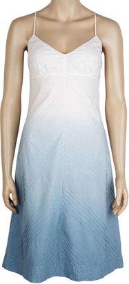 Max Studio Dip Dyed Cotton Voile V-Neck Tank Dress