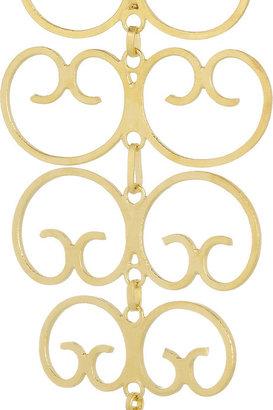 Mallarino Mercedes gold-plated filigree earrings