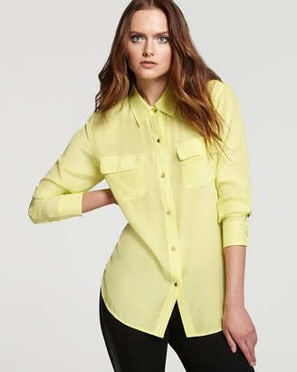 Juicy Couture Long Sleeve Silk Blouse