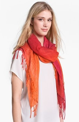 Nordstrom 'Luminous Gradation' Linen Blend Scarf