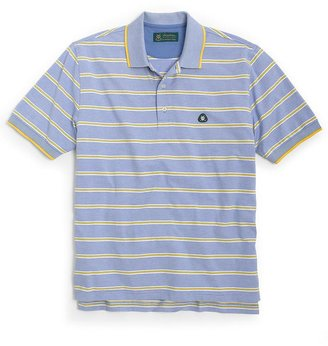 Brooks Brothers St Andrews Links Alternating Track Feed Stripe Polo