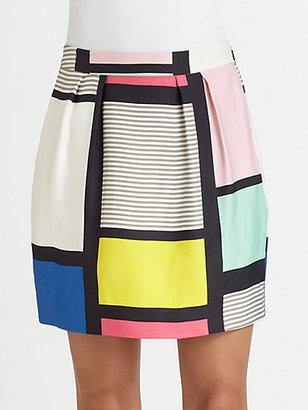 Kate Spade Barry Colorblock Skirt