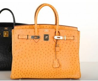 Hermes pristine (PR Saffron Orange Ostrich 35cm Birkin Bag