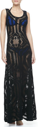 Jean Paul Gaultier Lace Coverup Maxi Dress
