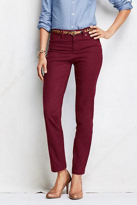 Lands' End Women's Tall Fit 2 5-pocket Colored Denim Slim Ankle Jeans