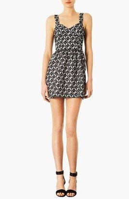 Topshop Bonded Lace Dress