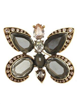 Oscar de la Renta Butterfly Shaped Brooch
